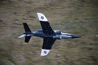 Alpha Jet of the Royal Air Force low level flying over North Wales Fine Art Print