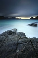 A long exposure scene at Haukland Beach in Lofoten, Norway Fine Art Print
