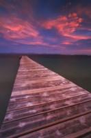 Alcudia Beach pier in Mallorca, Spain Fine Art Print