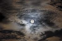Full moon in clouds Fine Art Print