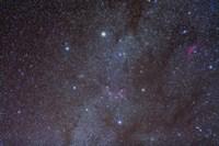 The Auriga constellation showing lanes of dark nebulosity Fine Art Print