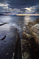 Midnight Sun over Vagsfjorden in Troms County, Norway Fine Art Print