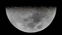 The feature known as Lunar-X visible on the moon's surface Fine Art Print