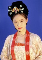 Chinese Woman in Tang Dynasty Dress, China Fine Art Print
