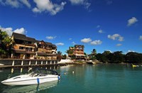 Anchored Boats, Grand Baie, Mauritius Fine Art Print