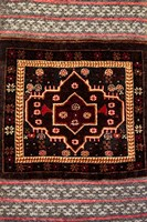Africa, Tanzania, Zanzibar, Stone Town. Close-up of hand-made carpet. Fine Art Print
