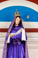 Church of Our Lady of the Remedies idol detail, Luanda, Angola Fine Art Print