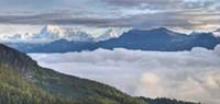 Asia, Bhutan, Mt Jumolhari, Chelela Pass Fine Art Print
