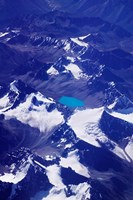 Aerial View of Snow-Capped Peaks on the Tibetan Plateau, Himalayas, Tibet, China Fine Art Print
