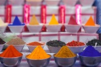 Colorful Spices in the Market, Egypt Fine Art Print
