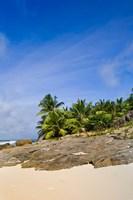 Anse Bambous Beach on Fregate Island, Seychelles Fine Art Print