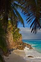 Anse Beach on Fregate Island, Seychelles, Africa Fine Art Print