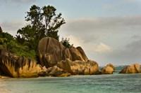 Anse-Source D'Argent coastline, Seychelles, Africa Fine Art Print