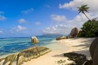 Rock formations, La Digue Island, Seychelles Fine Art Print