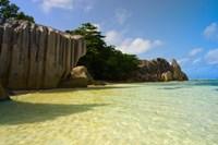 Cliffs of Anse-Source D'Argent, Seychelles, Africa Fine Art Print