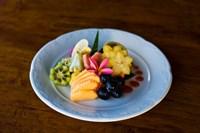 Cuisine at Fregate Resort, Seychelles Fine Art Print