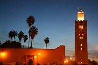 Africa, Morocco, Marrakesh, Koutoubia minaret Fine Art Print