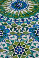 Floor tiles in Al-Hassan II mosque, Casablanca, Morocco Fine Art Print