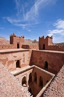 Deserted kasbah on the Road of a Thousand Kasbahs, Tenirhir, Morocco Fine Art Print