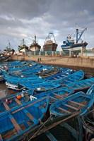 Fishing boats, Essaouira, Morocco Fine Art Print