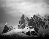 Antarctica, Mountain peaks along Cape Renaud in Lemaire Channel. Fine Art Print