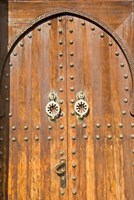 Door in the Souk, Marrakech, Morocco, North Africa Fine Art Print