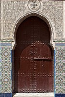 Archway with Door in the Souk, Marrakech, Morocco Fine Art Print