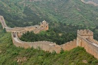 Great Wall of China at Jinshanling, China Framed Print
