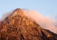 Africa; Malawi; Mt Mulanje; Thuchila; View of rock peak Fine Art Print