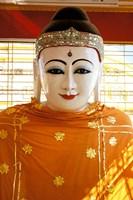 Buddha Statue, Botataung Paya, Yangon, Myanmar Fine Art Print
