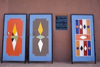 Colorful Doors Made by Local Metalworkers, Morocco Fine Art Print