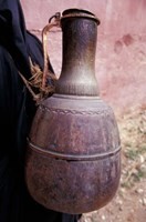 Copper Water Jug is Carried from Well to Homes, Morocco Fine Art Print