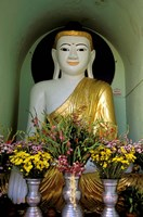 Buddha with Flowers Fine Art Print