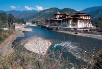 Historic Buddhist Monastery, Bhutan Fine Art Print