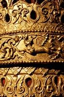 Decorated Column, Sule Paya, Yangon, Myanmar Fine Art Print