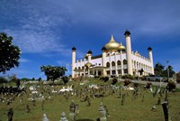 Gilded dome, architecture of Brunei, Asia Fine Art Print