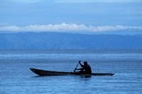 Canoe on Lake Tanganyika, Tanzania Fine Art Print