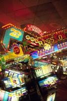 Double exposure, casino signs, Reno, Nevada Fine Art Print