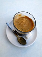 Espresso Drink at Cafe in Essaouira, Morocco Fine Art Print