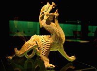 China, Shanghai, Bixie Mythical Beast Statue Fine Art Print