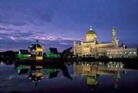 Sultan Omar Ali Saifuddin Mosque, Brunei Fine Art Print