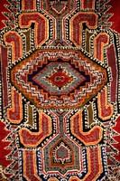 Colorful Rug Artwork, Casablanca, Morocco Fine Art Print