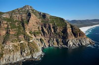 Aerial view of Chapman's Peak Drive, Cape Town, South Africa Fine Art Print