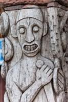 Africa, Gabon, Libreville. Wood carving by Zepherin Lendogno. Fine Art Print
