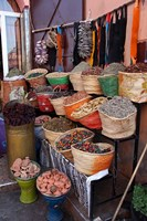 Africa, Morocco, Marrakech. Spices of the mellah of Marrakech. Fine Art Print