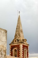 Africa, Mozambique, Island. Steeple at the Governors Palace chapel. Fine Art Print