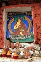 Clay Stupas, Paro, Bhutan Fine Art Print