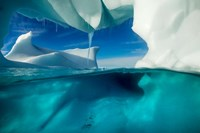 Antarctica, Arched Iceberg floating near Enterprise Island. Fine Art Print