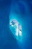 Antarctica, Iceberg framed in arch of another in Wilhelmina Bay. Fine Art Print