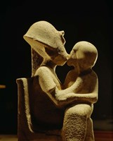 Akhenaten with child, Egyptian Museum, Amarna, Cairo, Egypt Fine Art Print
